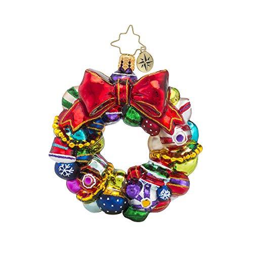 Christopher Radko Hand-Crafted European Glass Christmas Ornaments, Joyful Wreath