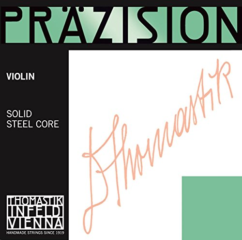 Thomastik enkele snaar voor 1/16 viool precisie volstalen kern E-snaar chroomstaal blank, medium