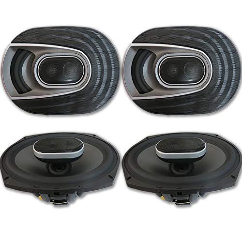 4 x Polk Audio MM 6x9 Inch 3-way Car Audio