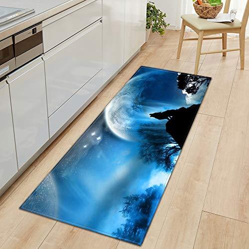 HLXX 3D Sternenhimmel Rutschfester Eingang Fußmatte Küche Bodenmatte Schlafzimmer Flur Boden Wohnzimmer Teppich Badezimmer Teppich Matte A20 60x180cm