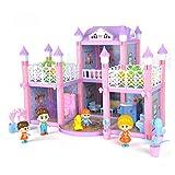 Casa de muñecas DIY de Juegos para niños Juguete de la casa Simulación Castillo Villa Set Juguetes PX
