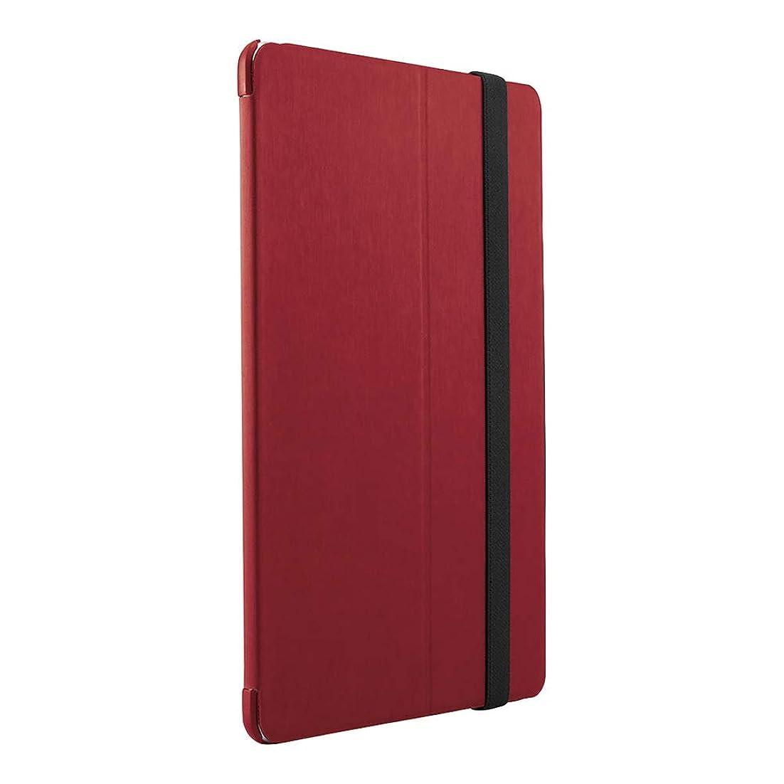 逆説読書をするムスタチオBUFFALO 2019年iPad mini ヘアライン調レザーケース レッド BSIPD1907CLHRD