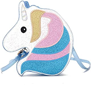 Tahitte Sunny Life Unicorn Head Cross Body Bag for Women and Teenager Funny Bag Gifts
