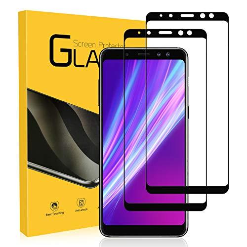 YIEASY Schutzfolie für Samsung Galaxy A8 2018 Panzerglas für Samsung Galaxy A8 Folie,[2 Stück] [9H Festigkeit] [Anti-Kratzen/Öl/Bläschen] HD Klar Ultra Dünn Bildschirmschutzfolie für Galaxy A8 Panzerglasfolie