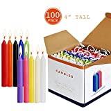 XYUT 100 Color Candles Bundle (10 Colours), Spell Chime Altar Candles Bulk for Witchcraft, Hoodoo, Voodoo, Rituals