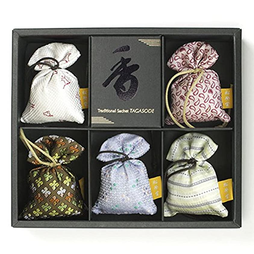 ラフトスキップ美しい匂い袋 誰が袖 薫 かおる 5個入 松栄堂 Shoyeido 本体長さ60mm