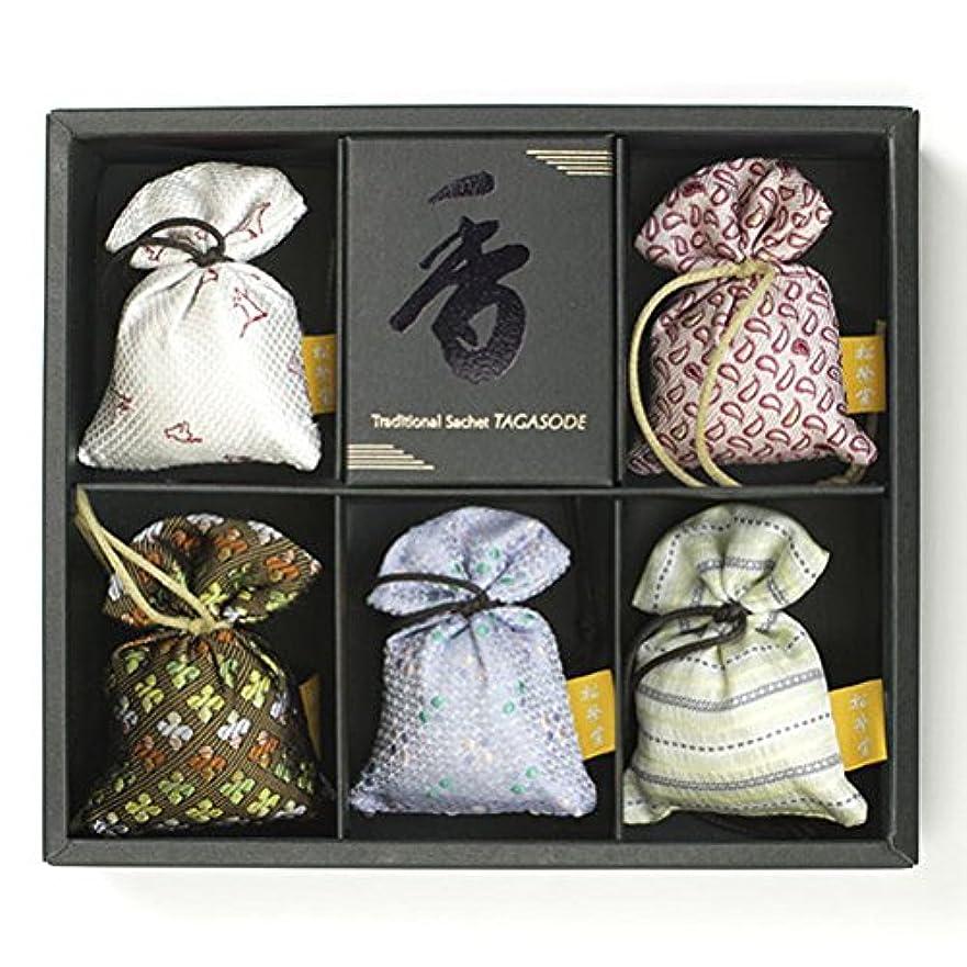 ネズミ自我混乱匂い袋 誰が袖 薫 かおる 5個入 松栄堂 Shoyeido 本体長さ60mm