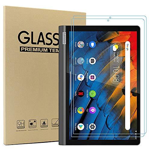 Ash-case Cristal Templado Protector Pantalla para Lenovo Yoga Smart Tab 10.1 Inches 2019, Dureza 9H, Anti-arañazos, Anti-Aceite, Anti-Burbujas, Borde Redondo 2.5D, Transparente (2 Paquete)