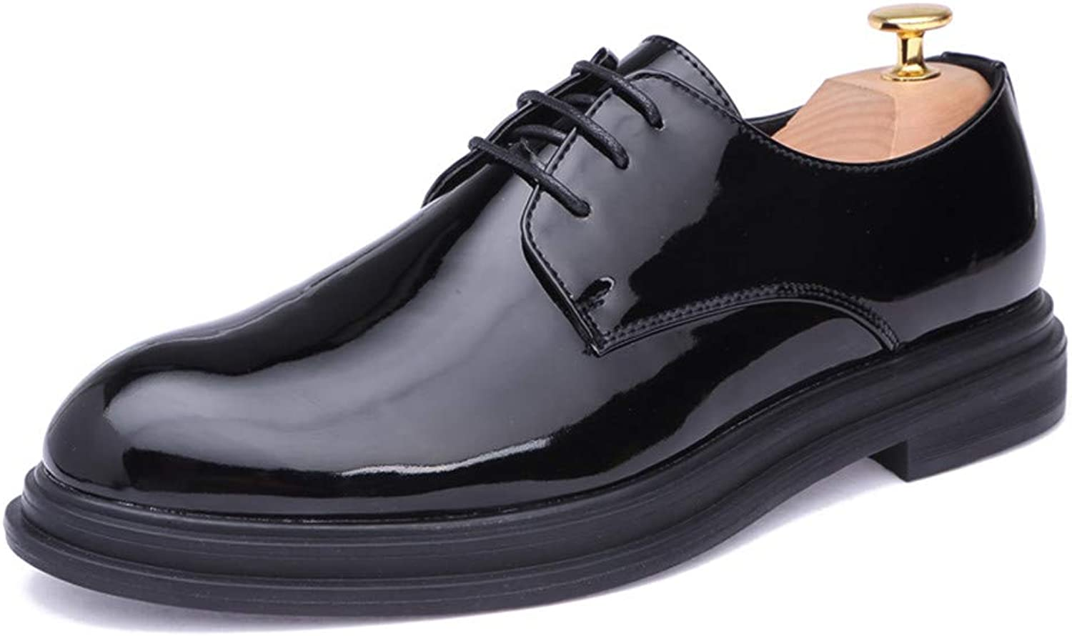 JIALUN-shoes Men's Simple Business Oxford Casual New Light and Comfortable Outsole Patent Leather Formal shoes