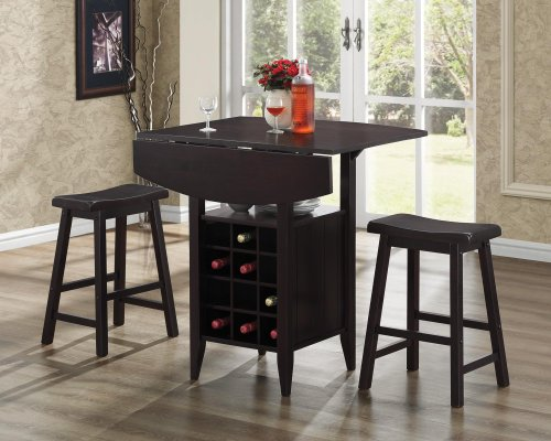Table with Stools in Espresso Brown
