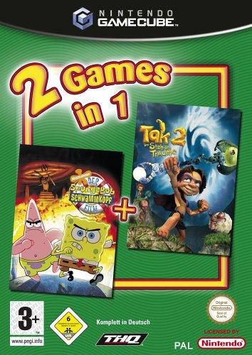 2 Games in 1 - Spongebob: Der Film + Tak 2