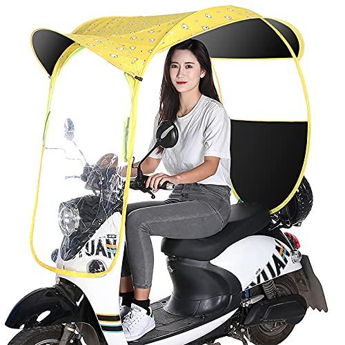 Parasol Universal para Motocicleta eléctrica, Mobility Scooter Sun Rain Wind Cover Coche eléctrico Prevent Umbrella, Parabrisas Transparente telescópico Plegable,B