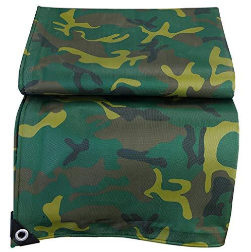 TRNCEE Dikker Camouflage Oxford Doek Dekzeil Outdoor Waterdichte Zonnebrandcrème Cover PVC enkelzijdige Coating 4x8m (13ft x 26ft)