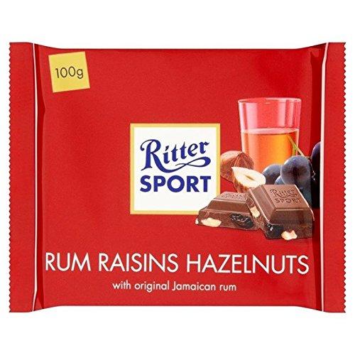 Ritter Sport Rum, Uvetta E Nocciole 100 g Di Cioccolato Al Latte