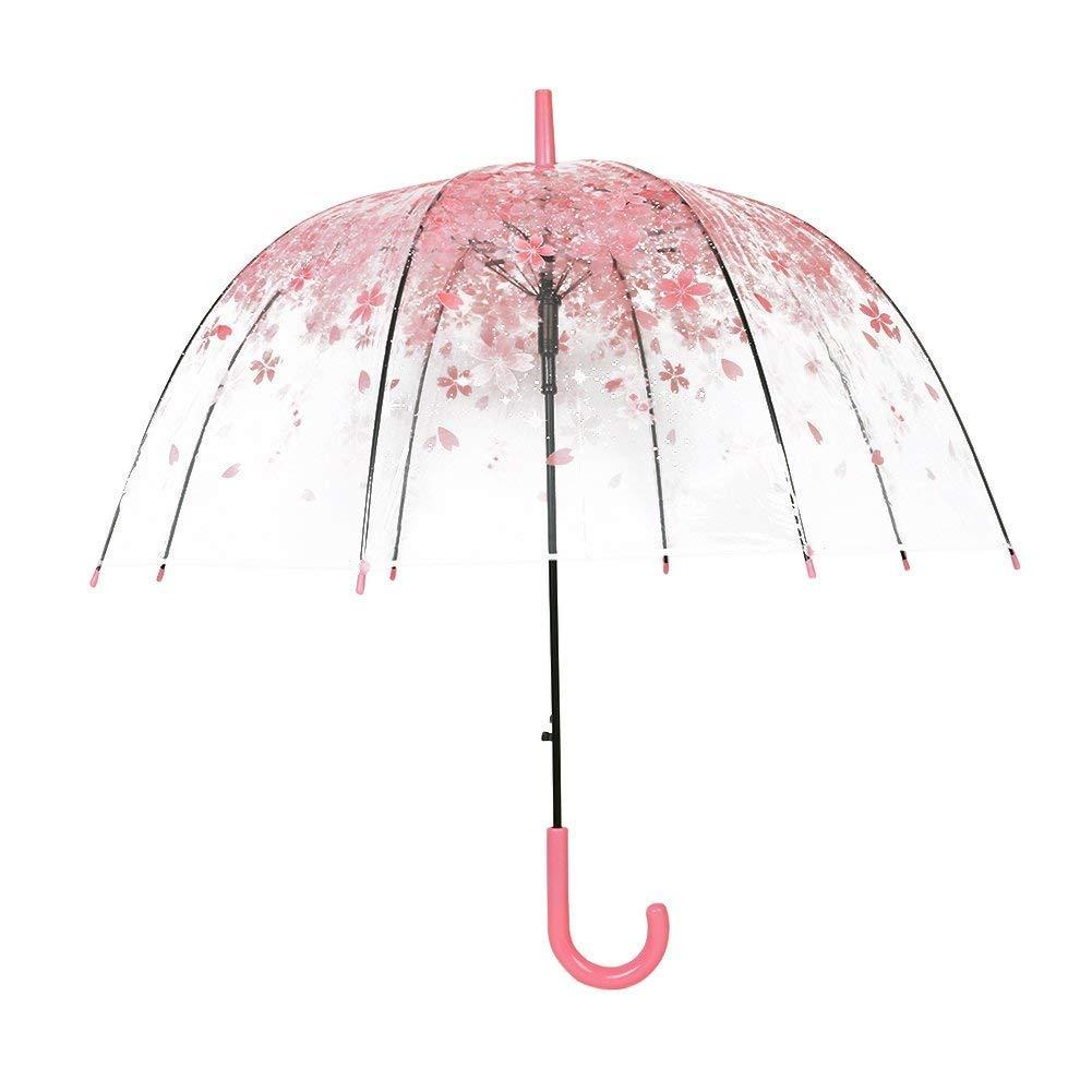 SUN GOD Blossoms Umbrella Transparent Semi Automatic