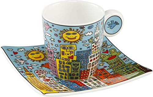 Goebel City Day - Espressotasse Pop Art James Rizzi Bunt Fine Bone China 26102371