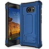 anccer Armor Series for Samsung Galaxy S7 Active Case with Kickstand Anti Shock Dual Layer Anti Fingerprint Protective Cover for Galaxy S7 Active (Not Fit for Galaxy S7) - Blue