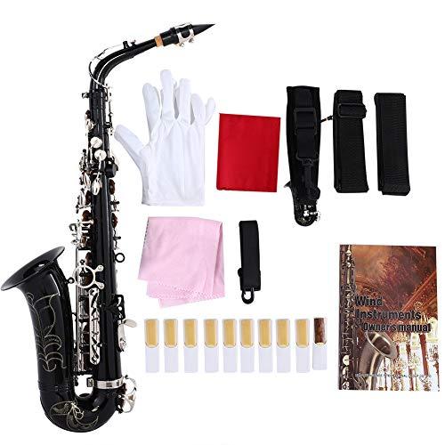 RiToEasysports Sax, Slade Mediant Saxophon Es-Alt-Saxophon mit Zubehör Schwarz