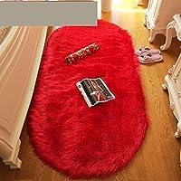 大きなリビングルームの敷物リビングルームの子供部屋の寝室のための毛むくじゃらの長方形のカーペットリビングルームの寝室に適したモダンなヘアラグ-A_80X120cm