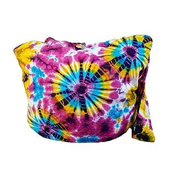 BTP! Tie Dye Sling Crossbody Shoulder Bag Purse Cotton Bohemian - Firework VY3