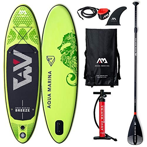Aquamarina Sup Junta Breeze Tabla, Adultos Unisex, Verde, Uni