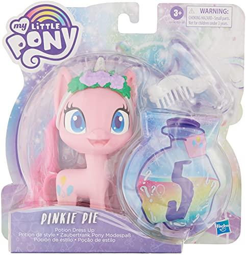 My little Pony Pinkie Pie Zaubertrank Pony Modespaß – 12,5 cm pinkfarbene Ponyfigur mit Fashion-Accessoires, kämmbarer Mähne und Kamm
