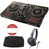 Pioneer DJ パイオニア DJコントローラー DDJ-400 ヘッドホン + ダストカバー DJセット 《ステッカー&教則動画付き》 ddj pcdj