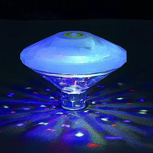 RAVPHICS Poolbeleuchtung Unterwasser Led, Badewannen licht für kinder, IP68 Wasserdicht, RGB-Poollichter mit 8 Beleuchtungsmodi für Garten Springbrunnen Badewanne Kinderpool Disco-Partylichter