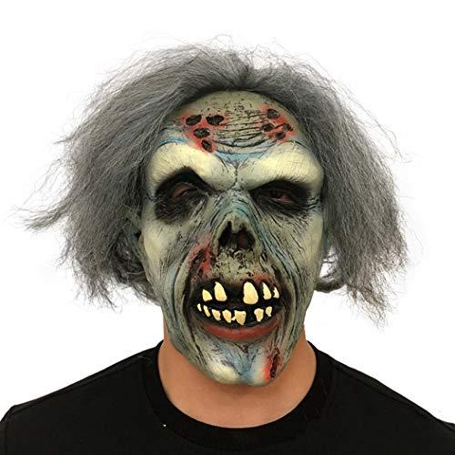 Halloween Adulto Maschera Orrore Biochimica Zombie Asciutto Cadavere Diavolo Lattice Testa Copertina,Photocolor,Onesize