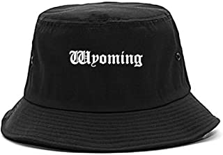 WY Wyoming State Old English Bucket Hat