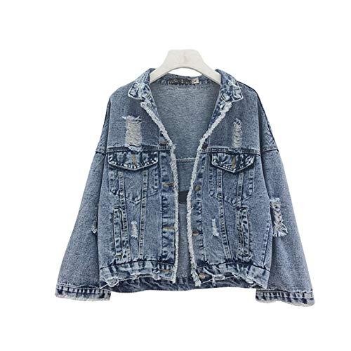 NZJK Vintage jeansjas vrouwen designer mantel vrouwelijk lente losse dames korte jeans jas vrouwen trendy mantel harajuku mantel