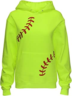 Women's Softball Hoodie Sweatshirt - Laces
