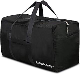 شنطة من القماش لحمل المتعلقات الشخصية بحجم XL من ريد سيسونز، شنطة قماشية للسفر سعة 96 لتر قابلة للطي للرجال والنساء، لون اسود
