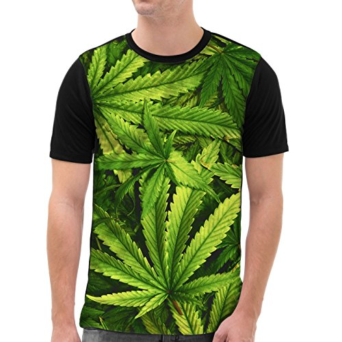 VOID Cannabis Camiseta gráfica para Hombre T-Shirt All-Over Print música Jamaica grifa Bob Reggae no Woman Marihuana, Talla:XL