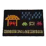 koko doormats Felpudo Entrada casa Original para casa y jardín, Space Invaders, felpudos Entrada casa Originales y Divertidos, 40x60x1.5 cm, Coco con Base Antideslizante de PVC