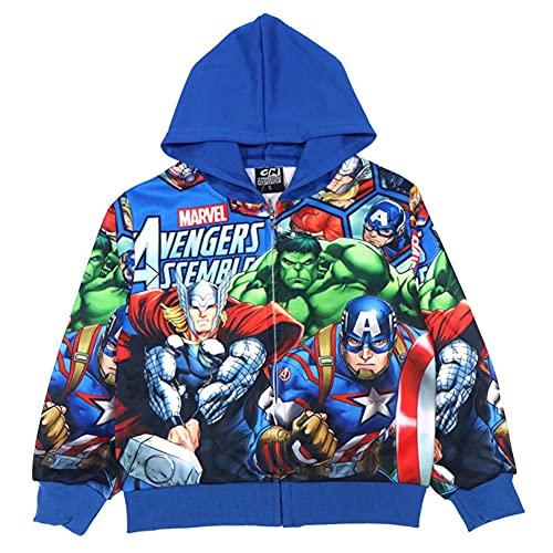 Towel Rings Silver Basic Chaqueta con Cremallera para Niños Superhéroe Capitán América Man Disfraz De Halloween Chaqueta con Capucha para Niños Marvel Avengers