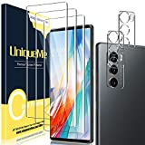 [ 3+2 Pack ] UniqueMe TPU Soft Screen Protector + Camera Lens Protector Tempered Glass for LG Wing 5G Screen Protector【Easy to Install 】.