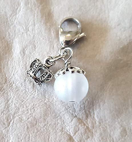 Charm ☘ 3D ☘ Trachtenschmuck ☘ weiße Glasperle, Lunar ☘ Anhänger ☘ Karabiner ☘ Bettelarmband ☘ Schlüsselanhänger ☘ Accessoires ☘ Oktoberfest ☘