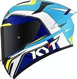 KYT TT Course Grand Prix Casco Blu baby/Bianco