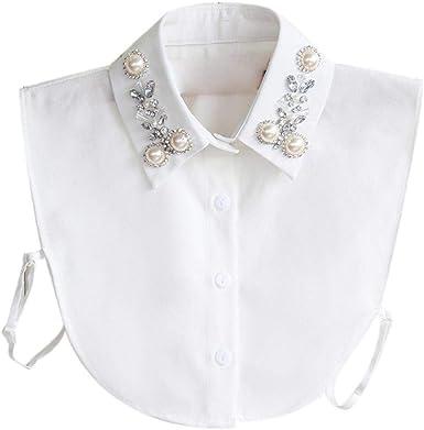 Bontand Del Diamante Falso Cuello Babero Falso Cuello Camisa De Dickey Etachable Collar Para La Mujer