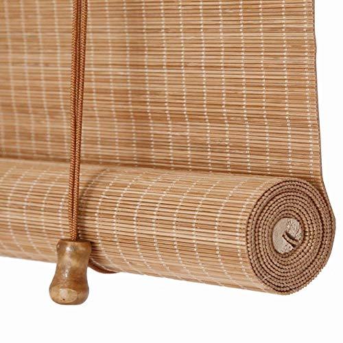 Persiana Enrollable Cortina de Bambú Retro Sombreado Anti-Polilla a Prueba de Humedad, para Puertas/Ventanas/Balcones,70x120cm