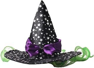 BinaryABC Halloween Dog Hat Witch Hats,Halloween Pet Costume Accessories