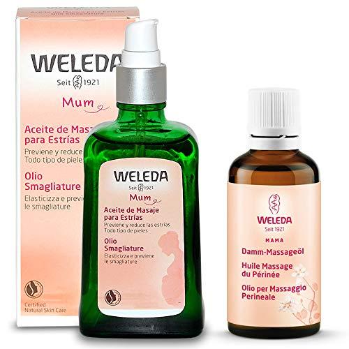 Weleda - PACCHETTO MAMMA - Olio Smagliature 9 Mesi 100 ml + Olio per il Massaggio Perineale 50 ml |...