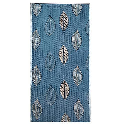 CYGJ Patrón de Hoja Azul de Dibujos Animados Cortinas Modernas Salon 120x220cm/47.28x86.7in Cortina Invierno para Puerta Delantera