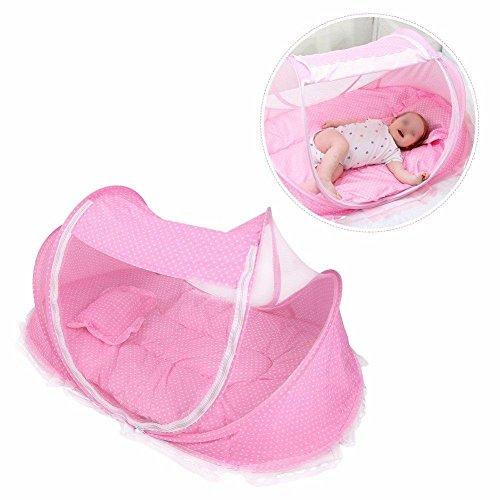Travel-cot Baby Reisebettzelt Moskitonetz Falten Infant Krippe Moskitonetz Baby-Jurte Passend für 0-3 Jahre Altes Baby 110 * 65 * 60 cm