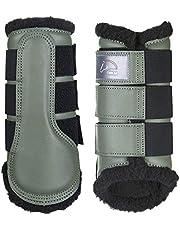 HKM Dressage/Brushing Botas de Doma con Forro Polar, Color Blanco, Talla M, Unisex Adulto