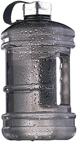 Speeron Wasserflasche: Auslaufsichere Trinkflasche mit Tragegriff, 2,3 l, BPA-frei, schwarz (Trinkflasche mit Griff)