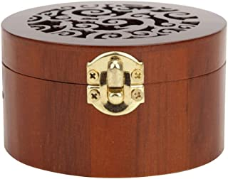 JJZXD Wooden Music Box Retro Style Round Music Box Music Jewelry Box Swan Lake and Sky Castle