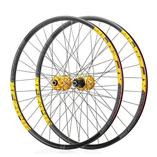 WWL 700C Ruedas Ciclismo Freno Disco Liberación Rápida 32 Agujeros Compatible 7/8/9/10/11 Velocidad 26'27,5' 29'Cierre Rápido (Color : C)