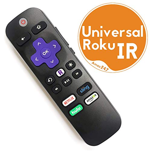 Amaz247 Universal ROKU IR Learning Remote for All Roku Player and Roku TV, Compatible with Roku 1, 2, 3, 4 (HD, LT, XS, XD), Roku Express with Samsung, Vizio, LG, Sony TV for Power and Volume Buttons